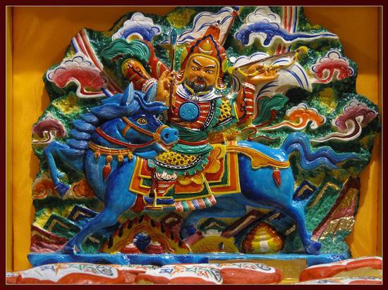 非遗中国:藏族格萨尔彩绘石刻